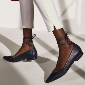 Massino Dutti Shoes Leather Pointy Flats